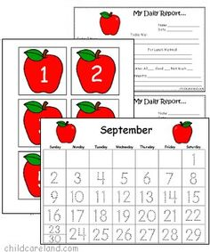 September Number Tracing Calendar and Numbers Number Tracing, Calendar Numbers, Teachers Toolbox, Pre School, Playing Cards, September, Classroom, Autumn, Education