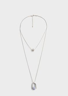 Pendant long necklace
