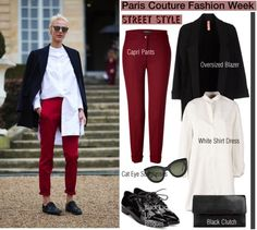 """Paris Couture Fashion Week/Street Style"" by helenevlacho on Polyvore"