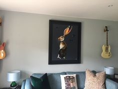 Quinn Russell original in situ, sold and framed by Canvas, Belfast Contemporary Frames, Amazing Paintings, Belfast, Pet Portraits, Galleries, Gallery Wall, Colours, Canvas, Tela