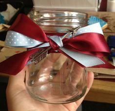 Pi Phi wine and silver blue and an arrow mason jar craft #piphi #pibetaphi