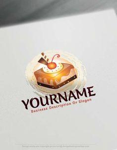 Free Logo Maker – Online Cupcake logo design