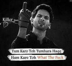 Quotes In Hindi Attitude, Funny Quotes In Hindi, Positive Attitude Quotes, Attitude Quotes For Girls, Hindi Shayari Attitude, Bad Words Quotes, Boy Quotes, Pain Quotes, Love Hurts Quotes
