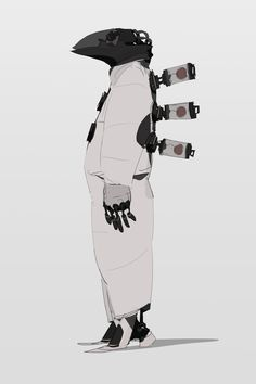 Kai Fine Art is an art website, shows painting and illustration works all over the world. Cyberpunk Character, Cyberpunk Art, Character Concept, Character Art, Character Illustration, Illustration Art, Plague Doctor, Science Fiction, Character Design References