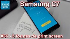 Samsung Galaxy C7 - 3 formas de tirar print screen