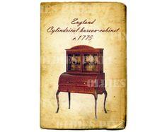 Vintage Furniture c.1775 England George III by OldiesPixel on Etsy, $3.25