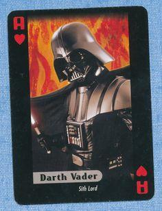 Star Wars Darth Vader playing card single swap ace of hearts - 1 card
