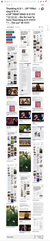 Screenshot: Pinterest Saturday Morning, Sunday, Burning Man, Eid, Tofu, Lamb, Pray, Dreams, Woman
