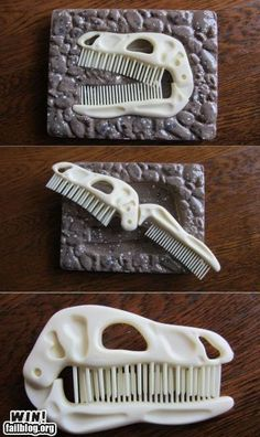 Kids dinosaur comb... this might actually get my son to comb his hair!