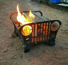 outdoor fire pit box – have a look at our techniques! outdoor fire pit box – have a look at our techniques! Car Part Furniture, Automotive Furniture, Automotive Decor, Metal Projects, Welding Projects, Outdoor Projects, Diy Fire Pit, Fire Pits, Jeep Accessories