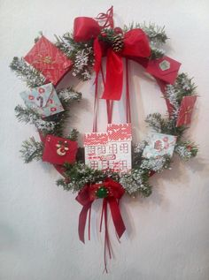 So happy! Christmas at last Christmas wreath with Santa's post office (and there is a wish in every envelope) Last Christmas, Christmas Ideas, Christmas Wreaths, Post Office, Envelope, Santa, Spirit, Holiday Decor, Creative