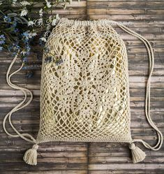 Drawstring Bag crochet pattern coming soon!