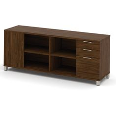 BESTAR Pro-Linea Credenza with 3 Drawers | from hayneedle.com