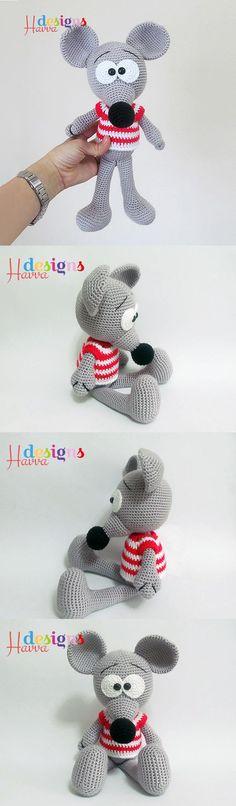 Cute Mouse Amigurumi Pattern                                                                                                                                                                                 Más