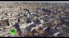 Parte de la destrucción en Siria causada por la guerra y captada por un dron