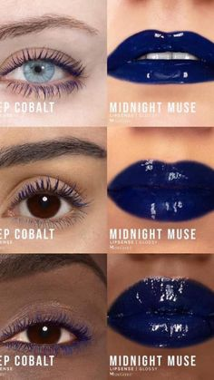 Display your inner intense hues with Limited Edition Deep Cobalt VolumeIntense Mascara & Midnight Muse LipSense LipColor by SeneGence.  Light up your look. #deepcobalt  #midnightmuse #senegence #lipsense #mascara #lashsense