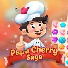 Free Match-3 Browser Game - Papa Cherry Saga is the perfect match 3 game for the sweet tooth. Free Match, Match 3 Games, Perfect Match, Saga, Sweet Tooth, Mickey Mouse, Cherry, Disney Characters