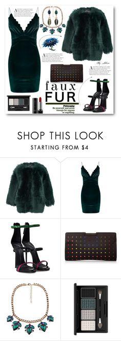 """Faux Fur Coats"" by jelenalazarevicpo ❤ liked on Polyvore featuring Rochas, Boohoo, Giuseppe Zanotti, Milly, Chicnova Fashion and Marc Jacobs"