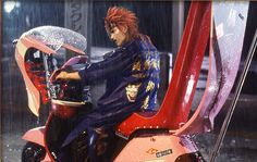 Reno ...on a pink scooter :) - Final Fantasy VII