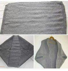 Knitted Poncho, Crochet Cardigan, Knit Crochet, Crochet Shrug Pattern, Kimono Pattern, Outlander Dress, Knitting Yarn, Hand Knitting, Knitting Needles
