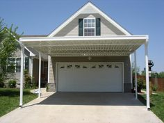 Carport Home Garage Carport Patio Carport Designs Building A Carport Patio, Carport Plans, Carport Garage, Garage House, Patio Roof, House Roof, Pergola Plans, Carport Ideas, Garage Ideas