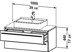X-Large Vanity unit for console