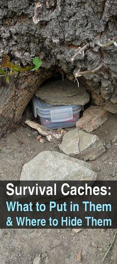Survival Caches: What to Put in Them and Where to Hide Them.The contents of your survival cache will vary depending on your location and specific needs, Survival Cache, Urban Survival, Homestead Survival, Wilderness Survival, Survival Knife, Survival Prepping, Emergency Preparedness, Survival Gear, Survival Skills
