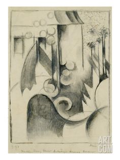 House in the Garden, 1914 Giclee Print by Franz Marc at Art.com