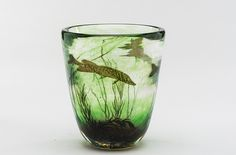 Edward Hald (Swedish, 1883-1980), Orrefors, Fish-Graal Glass Vase.