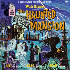 The Haunted Mansion book with 33 1/2 long-playing record.