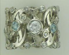 Aqua and Diamond Filligree