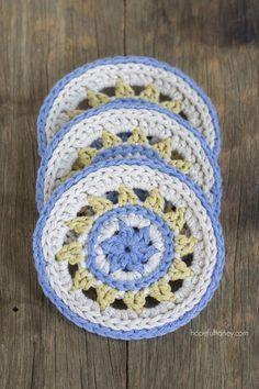 Meadowlark Coasters - Free Crochet Pattern