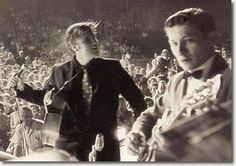 Elvis Presley & Scotty : Russwood Park, Memphis, Tennessee : July 4, 1956 On the evening of July 4, 1956, Elvis, Scotty Moore, Bill Black and DJ Fontana headlined a benefit concert at Russwood Park, Memphis.