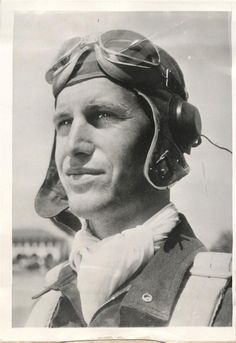 """1944- Lt. Col. Glenn Duncan, 353rd Fighter Group, who at the time of photo was the 3rd ranking U.S. """"Ace"""" pilot of WWII. Duncan was downed in July of 1944 and joined the Dutch underground until near the end of the war."""