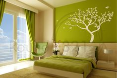 Tree Decal for the Home with Birds Flying Around -  Bedroom and /Or Livingroom Wall Decal  Home  Decor. $99.00, via Etsy.