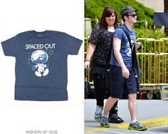 Chris Colfer and the Glee cast leave rehearsals, Las Vegas, May 18, 2011  Target Spaced Out Smurfs Tee -  Worn with: Dior Homme sunglasses, Under Armour sneakers