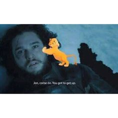 You people are so rude! We don't have any obligations! We post what we think will be cool and funny. So If you don't like what we post there is an UNFOLLOW button. Thank you #jonsnow #kitharington #lionking #gotseason5 #gameofthrones #hbo