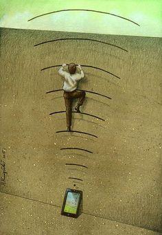 15 Ilustrasi ini sindir mirisnya kehidupan sekarang, eketawers ngerasa? - http://wp.me/p70qx9-2Ld