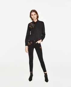 ZARA - WOMAN - FLORAL EMBROIDERY SHIRT