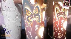 Luminária Feita com PVC Trabalho manual do D&E Artesanato