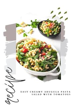 Delicious Arugula Pasta Salad Fall Side Dish. With Autumn in the air, easy side dishes for your family dinner will be a family favorite. You can make this pasta salad for a lunch or for a crowd. An easy healthy cold pasta salad recipe your family will love Healthy Pasta Salad, Healthy Pastas, Pasta Salad Recipes, Healthy Side Dishes, Side Dishes Easy, Pasta Side Dishes, Pasta Sides, Dinner Dishes, Fall Casseroles