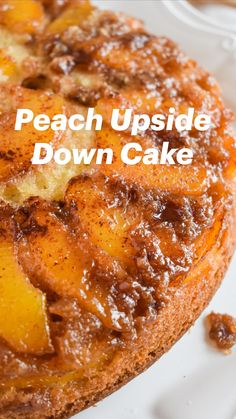 Delicious Desserts, Dessert Recipes, Yummy Food, Tasty, Peach Upside Down Cake, How Sweet Eats, I Love Food, Cupcake Cakes, Cupcakes