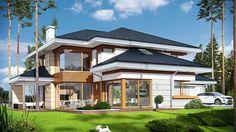 Projekt domu Dom z widokiem 269,44 m² - koszt budowy - EXTRADOM Luxury House Plans, Modern House Plans, Modern House Design, Big Houses Inside, House Inside, Casa Loft, Loft House, Amazing Buildings, Dream House Exterior