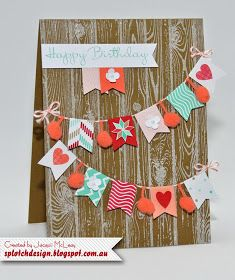 Splotch Design - Jacquii McLeay Independent Stampin' Up! Demonstrator: Birthday Banner Card