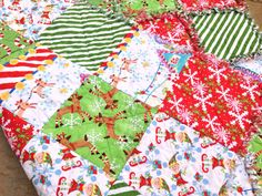 Elf on a shelf rag quilt Christmas rag quilt by BlueSheepBoutique