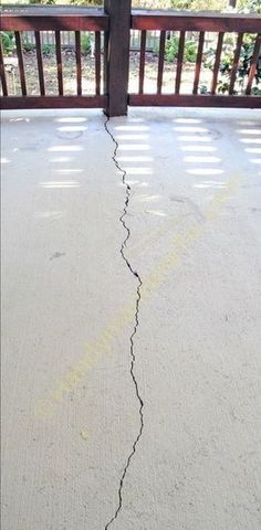 How to repair a cracked concrete patio slab with QUIKRETE® Concrete Repair No. 8620 sanded caulk with a description of concrete crack repair options. Concrete Porch, Concrete Slab, Concrete Driveways, Painting Concrete Patios, Concrete Filler, Concrete Lifting, Concrete Cover, Cement Floors, Concrete Projects