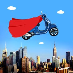 """There is a superhero inside all of us, we just need the courage to put on the cape"". #Vespa #SupermanDay"