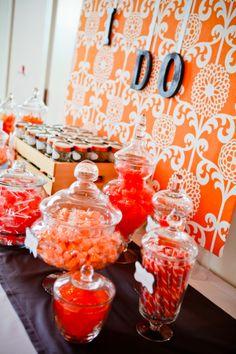 Slate & Orange wedding