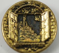 Buttons Antique Pressed Brass Button by BanglesAndButtons,