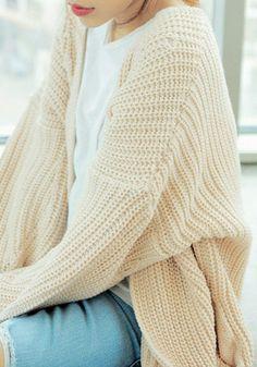 Wrap Knit Cardigan - Oversize Knit Cardigan